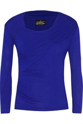 Vivienne Westwood Cherub Ruched Stretch Jersey Top Blue