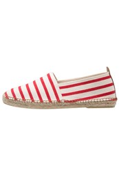 Kiomi Espadrilles Ecru Red Off White