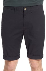 Men's Ben Sherman Slim Fit Stretch Cuffed Shorts Jet Black