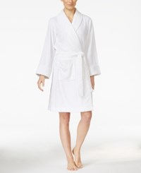 Charter Club Super Soft Shawl Collar Short Robe Only At Macy's Bright White