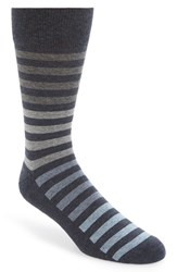 Men's Nordstrom Men's Shop Stripe Socks Blue Navy Heather
