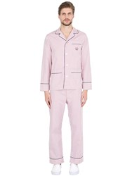 Maison Marcy Striped Cotton Pajama Shirt And Pants