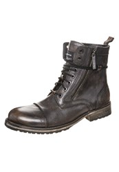 Pepe Jeans Meltin Laceup Boots Factory Black