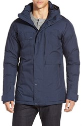 Men's Nau 'Blazing' Waterproof Down And Feather Jacket With Removable Hood Prussian Heather