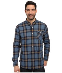 Timberland Contemporary Twill Plaid Shirt Dark Sapphire Yarn Dye Men's Long Sleeve Button Up Blue