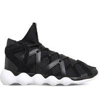 Adidas Y3 Kyujo High Top Neoprene Trainers Black White M
