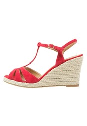 Pier One Wedge Sandals Red