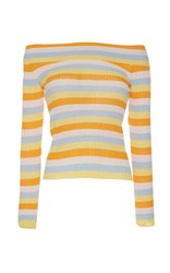 Vivetta Ippopotamo Off The Shoulder Sweater Stripe