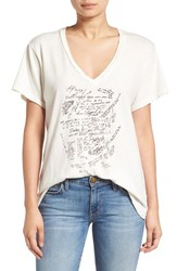 Current Elliott Women's 'The V Neck' Graphic Tee