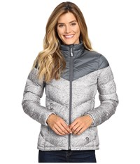 Mountain Hardwear Ratio Printed Down Jacket Graphite Steam Women's Coat Silver