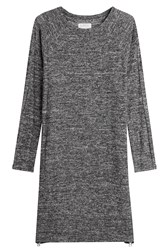 Velvet Jersey Dress With Zippers Grey