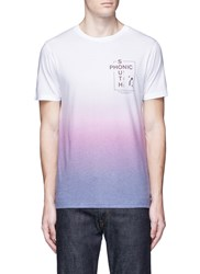 Topman Slogan Print Gradient T Shirt Multi Colour