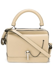 Carven Pin Fastening Tote Nude And Neutrals