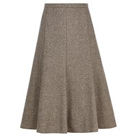 Viyella Petite Fit And Flare Skirt Chocolate