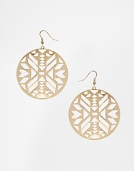 Asos Aztec Disc Earrings