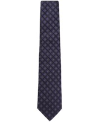 Hugo Boss Men's Patterned Italian Silk Tie Openpurple