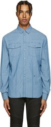 Balmain Pierre Blue Chambray Shirt