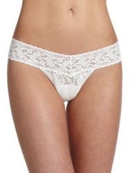 Hanky Panky Pearl Low Rise Lace Thong Marshmallow