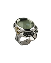 Konstantino Braided Green Amethyst Oval Ring
