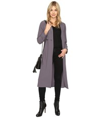 Kensie Drapey Soft Crepe Jacket Ksnu2023 Dark Storm Women's Coat Blue