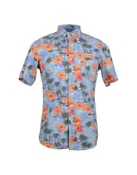 Deus Ex Machina Short Sleeve Shirts Sky Blue