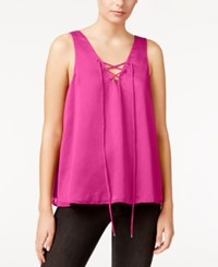 Rachel Roy Lace Up Tank Top Only At Macy's Party Pink