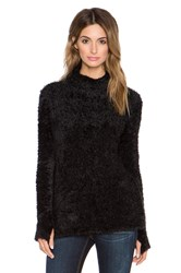 525 America Feather Yarn Funnel Neck Tunic Black
