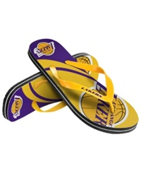 Forever Collectibles Los Angeles Lakers Thong Sandals Purple
