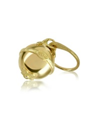 Torrini Ball 18K Yellow Gold Diamond Charm Ring