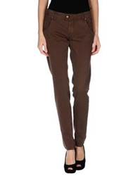 E Go' Sonia De Nisco Denim Pants Khaki