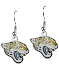 Aminco Jacksonville Jaguars Logo Drop Earrings Team Color