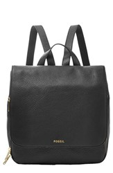 Fossil 'Preston' Leather Backpack Black