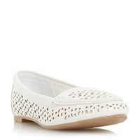 Head Over Heels Hasier Laser Cut Loafers White