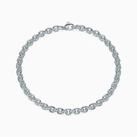 Tiffany And Co. Medium Round Link Chain In Sterling Silver 16 Long. Stainless Steel