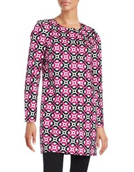 Laundry By Shelli Segal Printed Topper Panama Pink