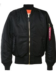 Alpha Industries 'Ma 1 Blood Chit' Bomber Jacket Black
