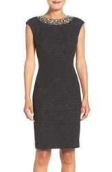 Eliza J Women's Embellished Sparkle Knit Sheath Dress