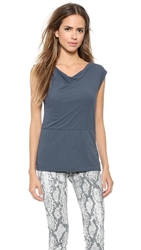 James Perse Draped Shell Top Titan