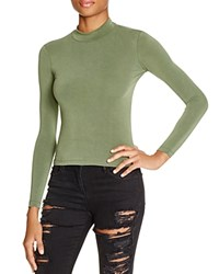 American Apparel Brushed Jersey Turtleneck Top Zucchini