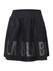Replay Short Printed Lace Skirt Black