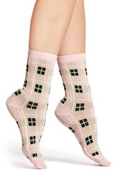 Women's Kate Spade New York 'Woodland Plaid' Trouser Socks Pink Pastry Pink