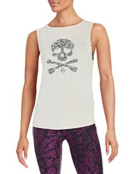 Betsey Johnson Skull Graphic Tank Top Quicksilver