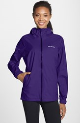 Women's Columbia 'Evapouration' Modern Classic Fit Packable Waterproof Rain Jacket Hyper Purple
