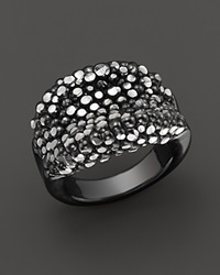 Roberto Coin Ruthenium Plated Sterling Silver Stingray Concave Ring