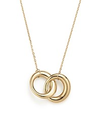 Bloomingdale's 14K Yellow Gold Double Interlocked Circle Chain Necklace 17