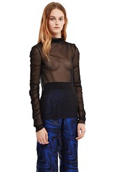 Opening Ceremony Mesh Long Sleeve Top Black
