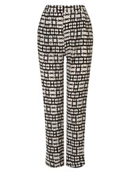 Phase Eight Justyne Print Trousers Black