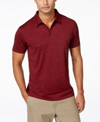 Alfani Men's Ethan Performance Polo Only At Macy's Clay Red Combo