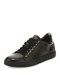 Sophia Webster Bibi Butterfly Leather Low Top Sneaker Black
