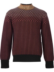 Jean Paul Gaultier Vintage Mixed Print Ribbed Jumper Black